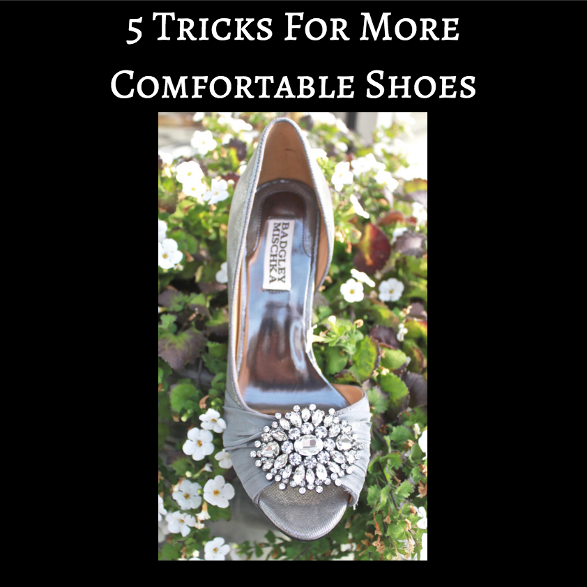 how to make wedding shoes more comfortable