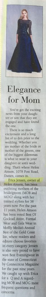 Helen Ainson Boutique In the Press
