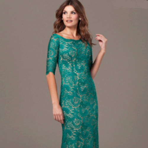 Jovani Boat Neck Lace Gown