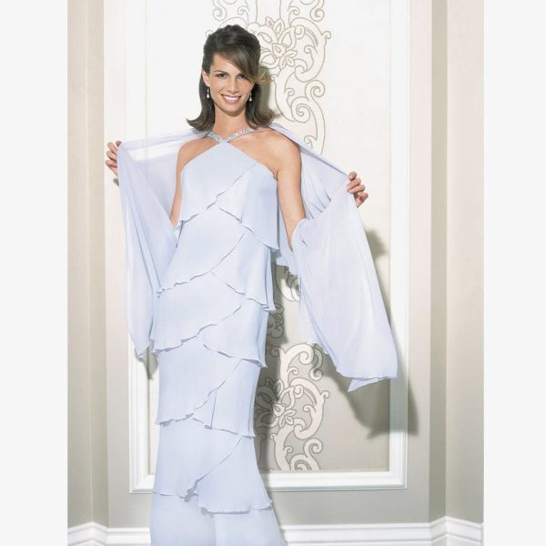 Daymor Halter Neck Layered Gown