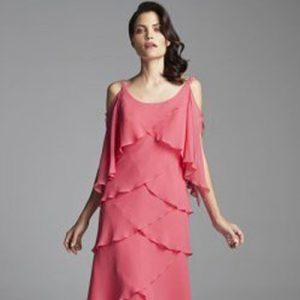 Cold Shoulder Ruffle Cocktail Dress