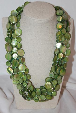 Sea Lily 6 Strand Mother of Pearl Necklace