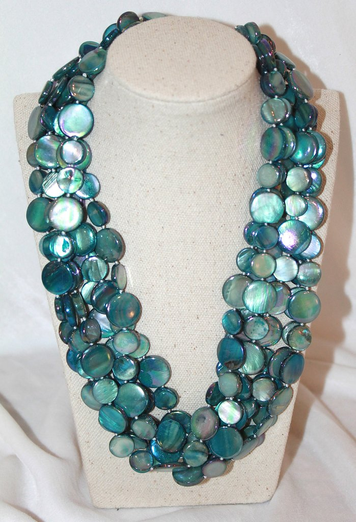 Sea Lily 6 Strand Mother of Pearl Necklace - Helen Ainson