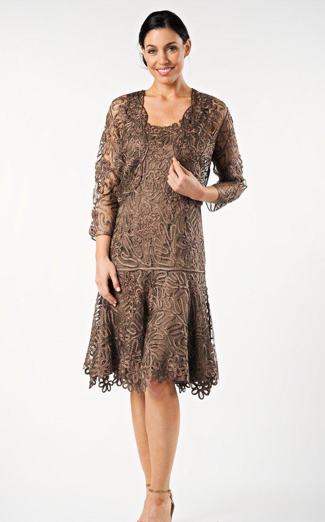 Soulmates Tea Length Dress Bolero Jacket Set - Helen Ainson