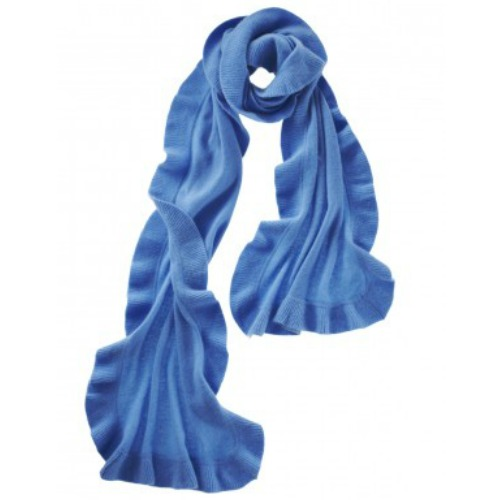 Cashmere ruffle wrap cashmere wrap