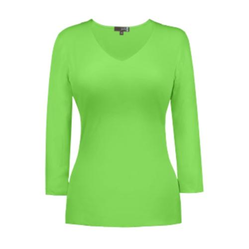 v neck 34 sleeve green flash