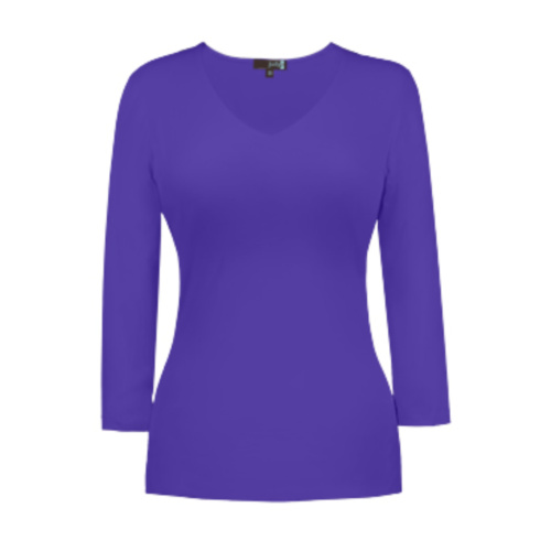 v neck 34 sleeve ultra violet