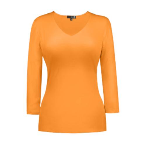 v neck 3 4 sleeve apricot