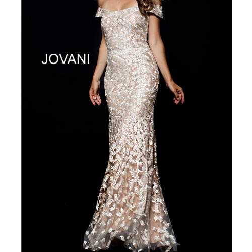 Jovani 49634 Off the Shoulder Embroidered Mother of the Bride Dress by jovani at Helen Ainson in Darien ct