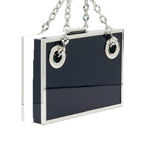 sondra-roberts-BLACKWHITE-Resin-Box-Satchel