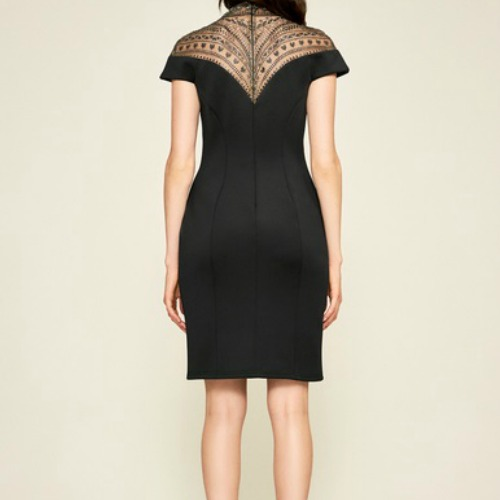 High Neck Illusion Dress