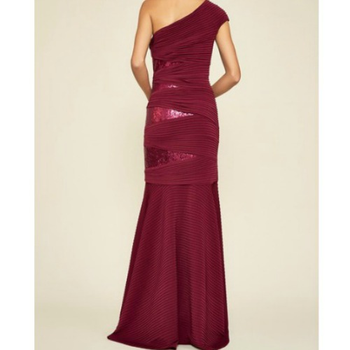 Tadashi One-Shoulder Sequin Gown