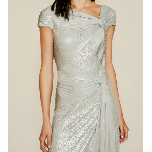 Tadashi Parma Draped Sequin Gown