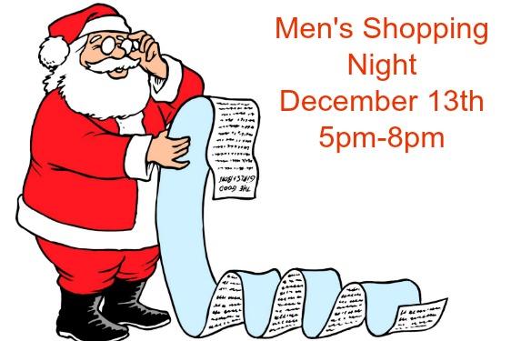 Men's Holiday Shopping Night