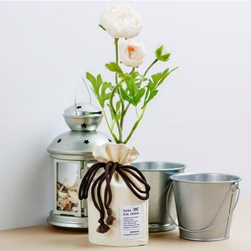 fabric flower vase