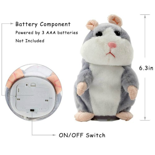 Stuffed Animal Hampster Mimics What You Say