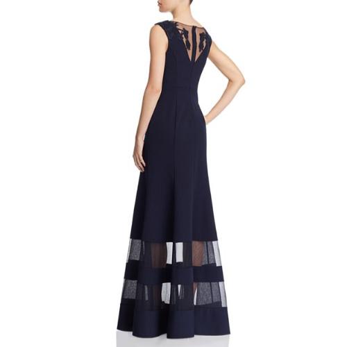 13294d8f5a3b Aidan Mattox Illusion Crepe Gown Aidan Mattox Illusion Crepe Gown