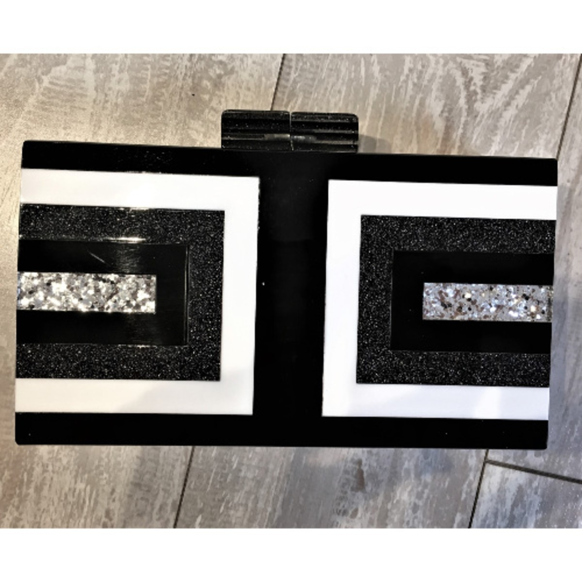 Sondra Roberts Color Block Box Clutch
