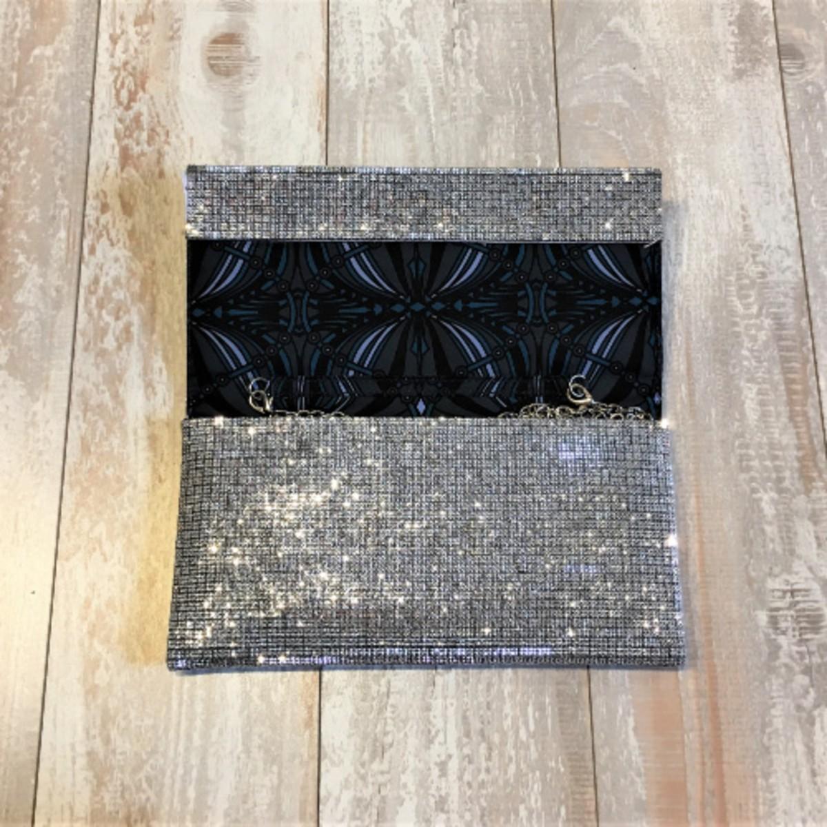 Sondra Roberts Fold Over Diamond Evening Bag