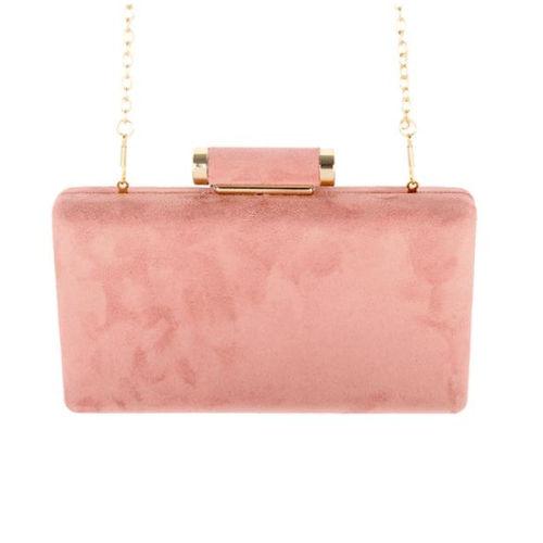 Modern Faux Suede Clutch Bag