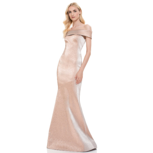 Theia Off the Shoulder Gown