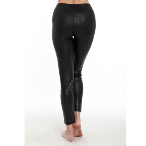 Angel Apparel Microfiber Leather High Rise Legging