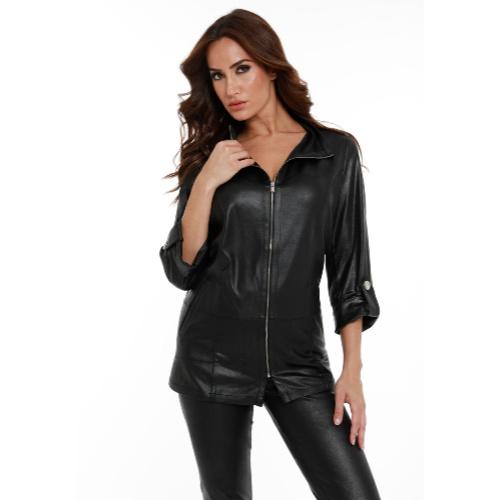 Angel Apparel Microfiber Poly Leather Utility Jacket