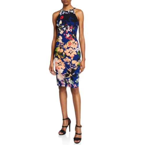 Black Halo Alexandria Floral Dress