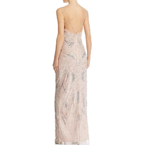 Aidan Mattox Deco Beaded Gown