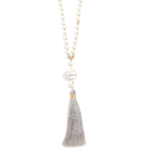 Zenzii Lucky Lucite Tassel Necklace
