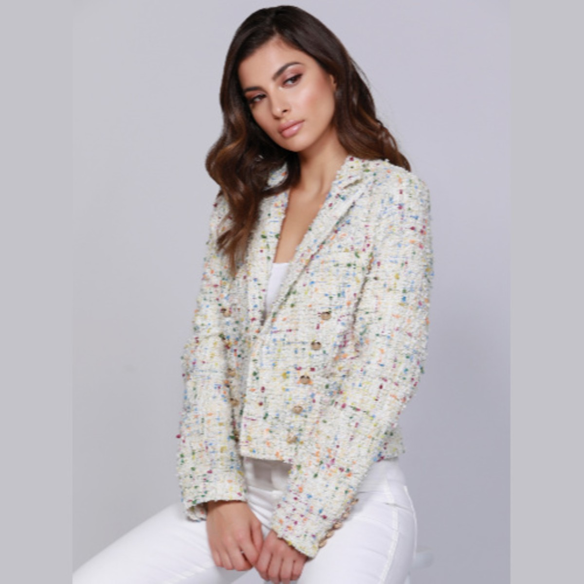 Dolce Cabo Tweed Multi Color Jacket