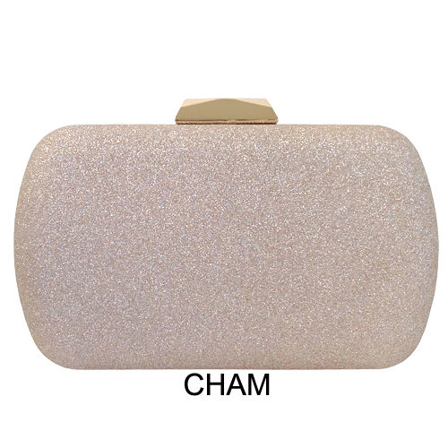 ELEGANT GLITTER BOX CLUTCH