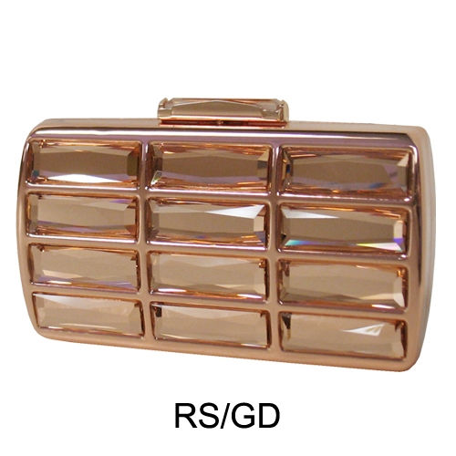 Vintage Glass Stone Box Clutch