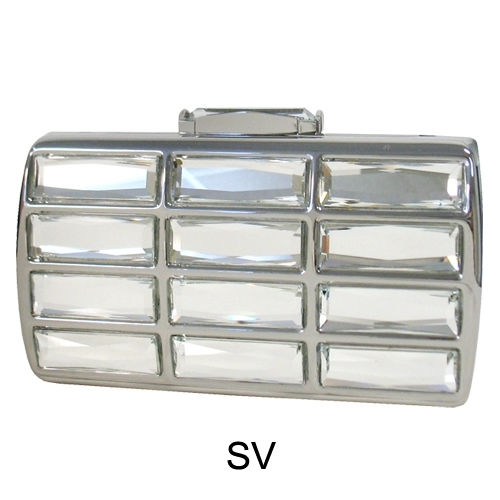 Vintage Glass Stone Box Clutch