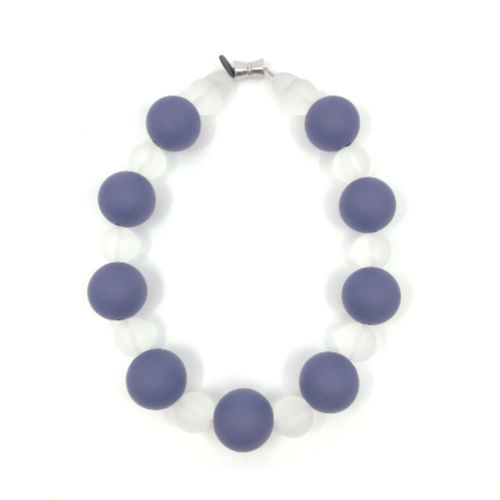 Matte Rubber Beaded Necklace