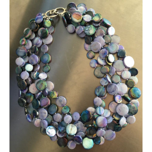Periwinkle and Navy -5 Strands