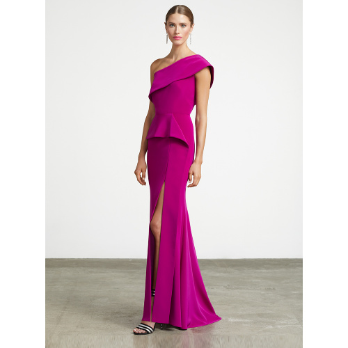 Frascara Peplum One Shoulder Gown