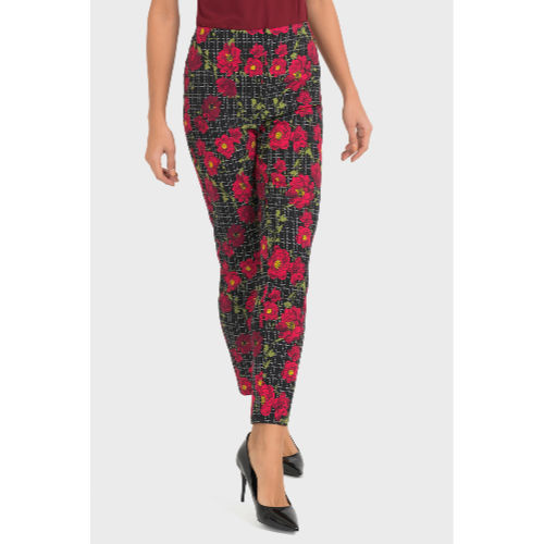Joseph Ribkoff Red Flower Pant