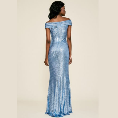 Tadashi Off-The-Shoulder Sequin Gown