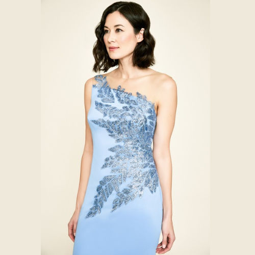 Tadashi One-Shoulder Neoprene Dress