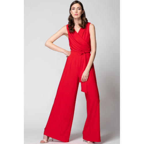 Joseph Ribkoff Red Wrap Jumpsuit