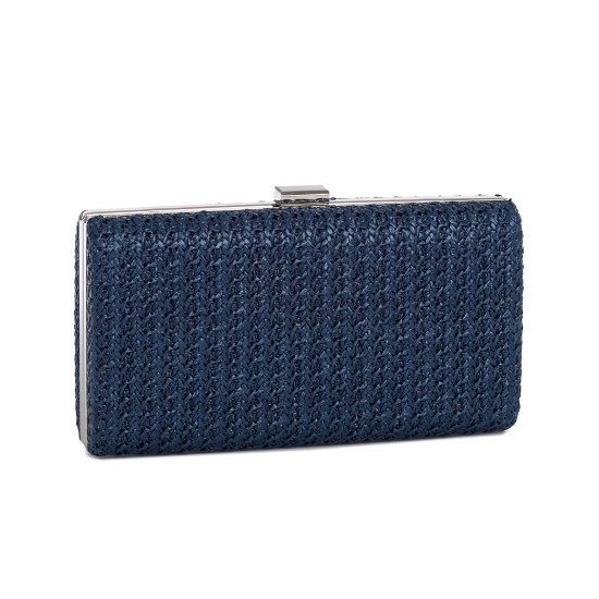 Hard Case Weave Pattern Clutch