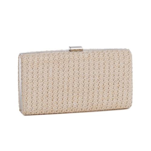 Hard Case Weave Pattern Clutch