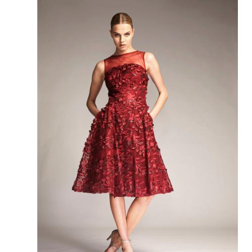 Park 108 3D Floral Tulle Cocktail Dress