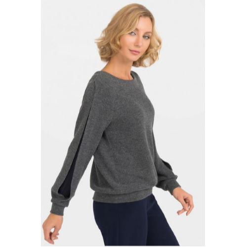 Joseph Ribkoff Split Chiffon Sleeve Sweater