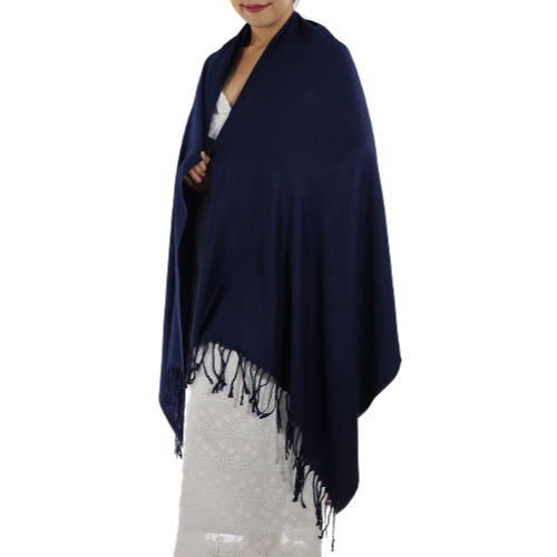 navy blue pashmina wrap