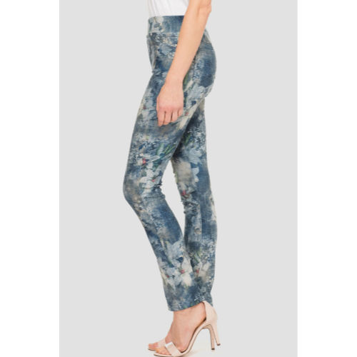 Joseph Ribkoff Printed Pull On Jean