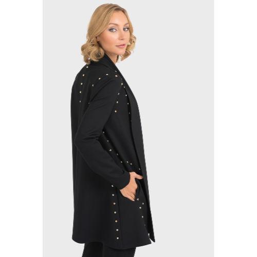 Joseph Ribkoff Long Studded Black Jacket