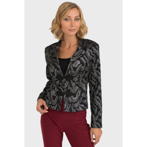 Joseph Ribkoff Black and Grey Jacket