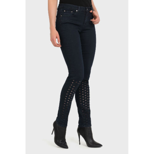 Joseph Ribkoff Perforated Dark Denim Jeans